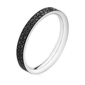 Mestergull Magic Ring i 18 K Hvitt Gull med Sorte Diamanter GEORG JENSEN Magic Ring