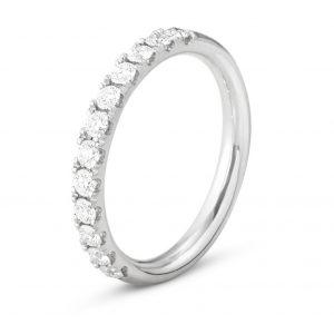 Mestergull Aurora Ring i 18 K hvitt gull med diamanter GEORG JENSEN Aurora Ring