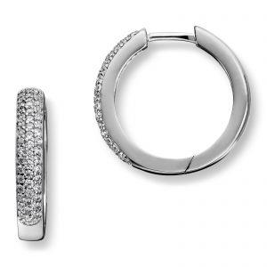 Mestergull Elegant ørepynt i rhodinert sølv med hvite cubic zirkonia GID Ørepynt