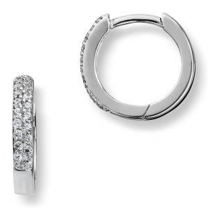 Mestergull Tidløse øreringer i sølv med hvite cubic zirkonia GID Ørepynt