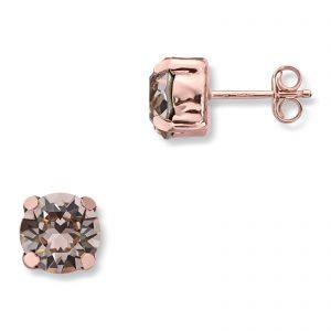 Mestergull Lekker ørepynt i rosèforgylt sølv med rosa swarovski krystaller GID Ørepynt
