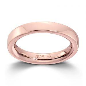 Mestergull Roseforgylt sølv glatt ring. Denne er fin i kombinasjon med flere ringer fra GID Stackable GID Stackable Ring