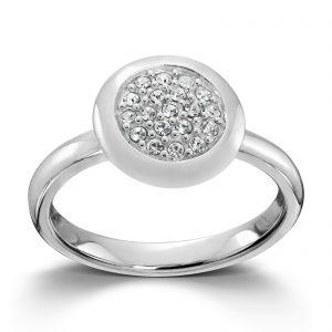 Mestergull Sølv ring med hvite cubic zirkonia. Denne er fin i kombinasjon med flere ringer fra GID Stackable. GID Stackable Ring