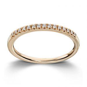 Mestergull Populær og trendy ring i gult gull med diamanter MG DIAMONDS Ring