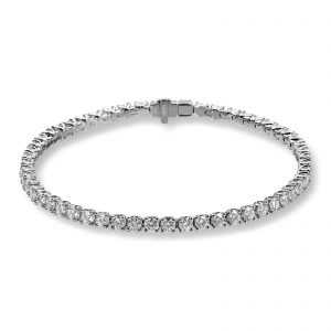 Mestergull Tennisarmbånd i hvitt gull med 55 diamanter à 0,08 ct. MG DIAMONDS Armbånd