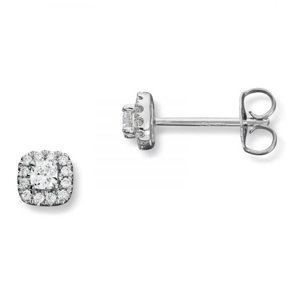 Mestergull Elegant ørepynt i hvitt gull med 26 diamanter totalt 0,30 ct. HSi MG DIAMONDS Ørepynt