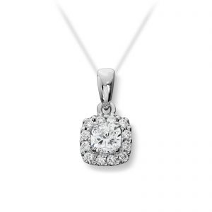 Mestergull Elegant anheng i hvitt gull med diamanter MG DIAMONDS Anheng
