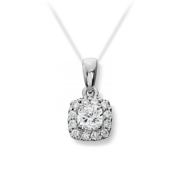 Mestergull Elegant anheng i hvitt gull med 13 diamanter totalt 0,30 ct. HSi, selges uten kjede MG DIAMONDS Anheng