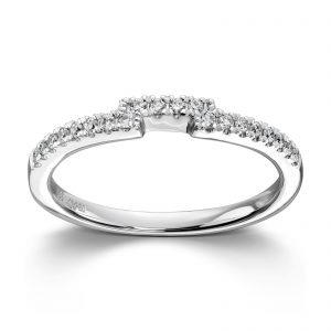Mestergull Lekker rekkering i hvitt gull med diamanter til Diva MG DIAMONDS Ring