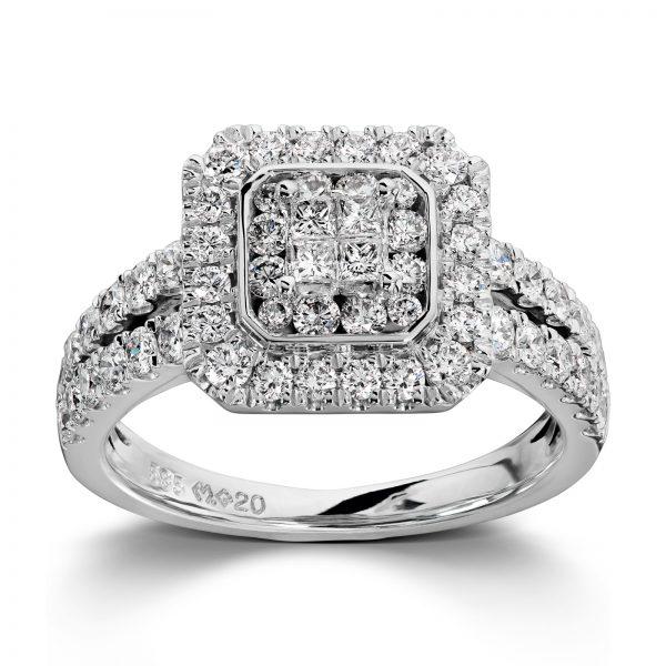 Mestergull Lekker ring i hvitt gull med diamanter MG DIAMONDS Ring