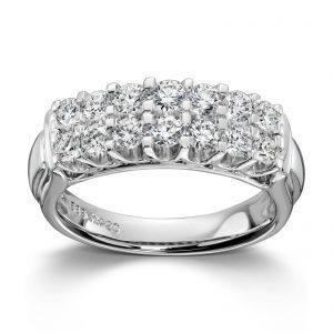 Mestergull Lekker dobbel rekkering i hvitt gull med 1,02 ct. diamanter. MG DIAMONDS Ring