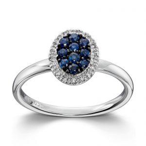 Mestergull Tidløs ring i hvitt gull med diamanter MG DIAMONDS Ring