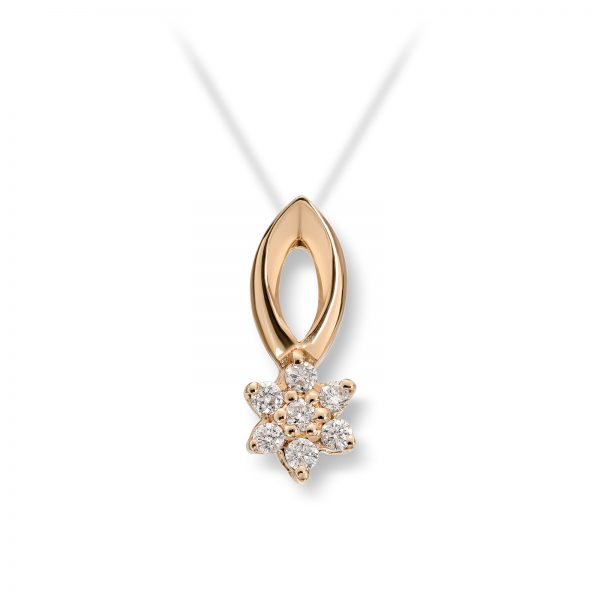 Mestergull Søtt anheng i gult gull med diamanter MG DIAMONDS Anheng
