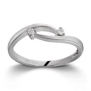 Mestergull Fint ring i hvitt gull med diamanter MG DIAMONDS Ring