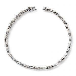 Mestergull Lekkert armbånd i hvitt gull med diamanter MG DIAMONDS Armbånd