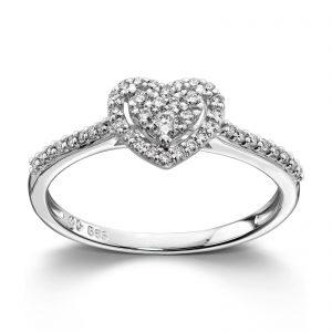 Mestergull Nydelig ring i hvitt gull med diamanter MG DIAMONDS Ring