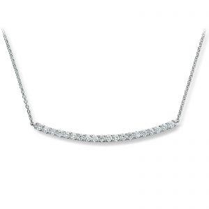 Mestergull Vakkert kjede i hvitt gull med diamanter MG DIAMONDS Kjede
