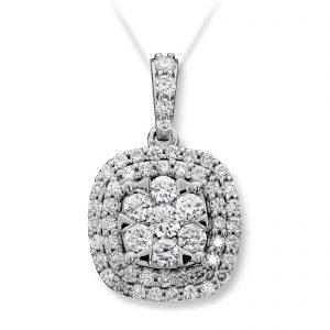 Mestergull Elegant anheng i hvitt gull med diamanter MG DIAMONDS Anheng