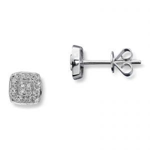 Mestergull Vakkert anheng i hvitt gull med diamanter MG DIAMONDS Ørepynt