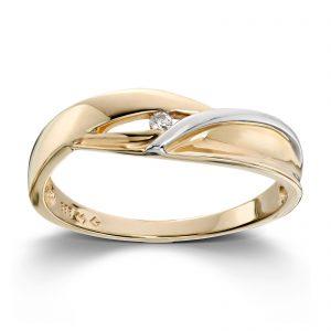 Mestergull Gull ring med diamanter MESTERGULL Ring
