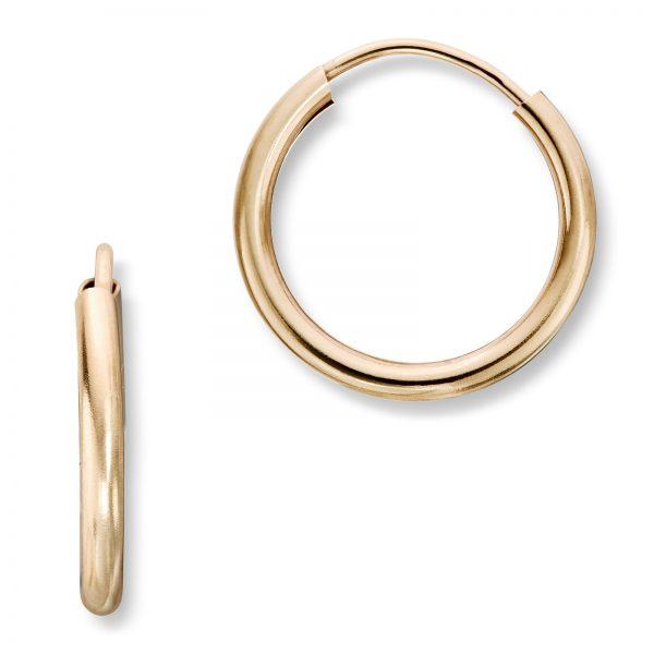 Mestergull Enkle øreringer i gult gull MG BASIC Ørepynt