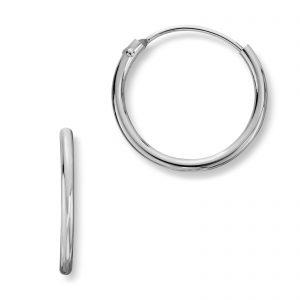 Mestergull Enkle øreringer i sølv MG BASIC Ørepynt