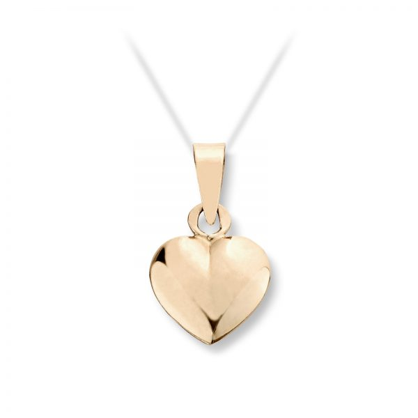 Mestergull Tidløst lite hjerteanheng i gult gull med mulighet for gravering MG BASIC Anheng