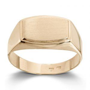 Mestergull Tøff signetring i gult gull MESTERGULL Ring