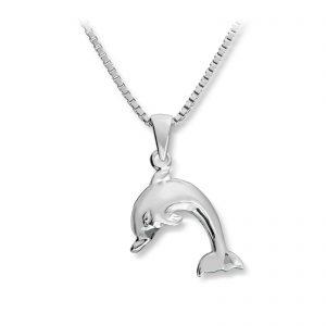 Mestergull Søtt anheng av delfing i sølv MG BASIC Anheng