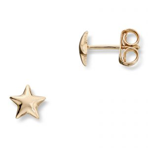 Mestergull Enkel stjerneørepynt i gull MG BASIC Ørepynt
