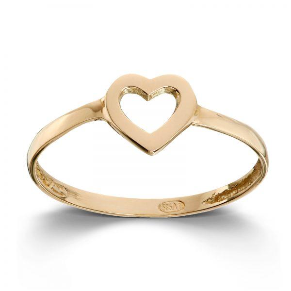 Mestergull Enkel hjertering i gult gull MESTERGULL Ring