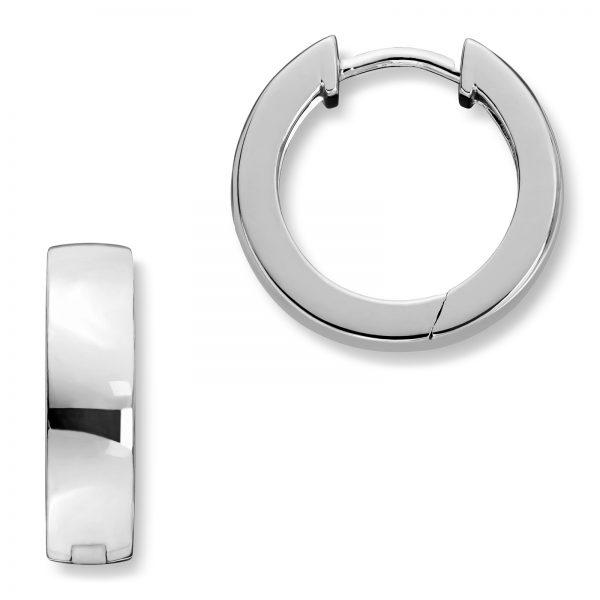 Mestergull Trendy øreringer i rhodinert sølv MG BASIC Ørepynt