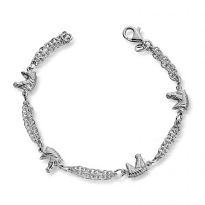 Mestergull Fint armbånd i sølv med hestehoder MG BASIC Armbånd