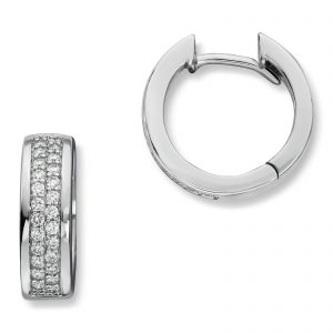 Mestergull Lekker ørepynt i hvitt gull med diamanter MG DIAMONDS Ørepynt