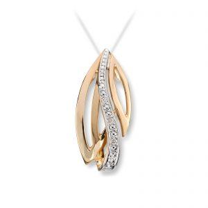 Mestergull Vakkert anheng i gult gull med diamanter MESTERGULL Anheng