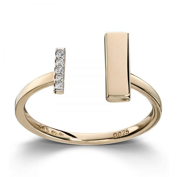 Mestergull Tøff ring i gult gull med diamanter MG DIAMONDS Ring