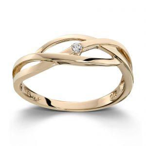 Mestergull Fin ring i gult gull med diamant MG DIAMONDS Ring