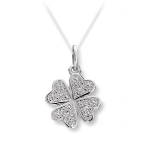 Mestergull Søtt anheng i hvitt gull med diamanter MG DIAMONDS Anheng