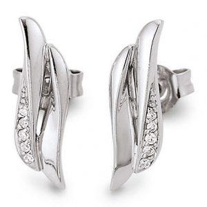 Mestergull Fin ørepynt i rhodinert sølv med diamanter VIVENTY Ørepynt