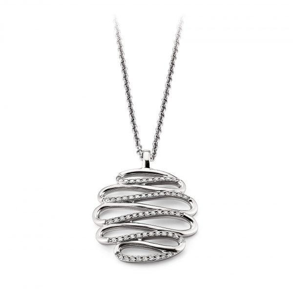 Mestergull Tøft anheng i rhodinert sølv med cubic zirkonia VIVENTY Anheng