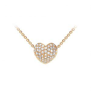 Mestergull Hjertelås til nøkkelsystem i 18 kt. gult gull med 55 diamanter totalt 1,07 ct. TwVs LYNGGAARD Hearts Anheng