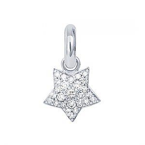 Mestergull Charm Magic Star Sweet Drops i 18 kt. hvitt gull med 27 diamanter totalt 0,53 ct. TwVs LYNGGAARD Sweet Drops Charm
