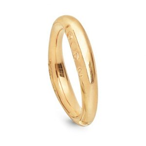 Mestergull Love Ring nr. 3 i 18 kt. Gult gull med blank overflate LYNGGAARD Love Ring