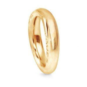 Mestergull Love Ring nr. 4 i 18 K Gult gull blank overflate LYNGGAARD Love Ring