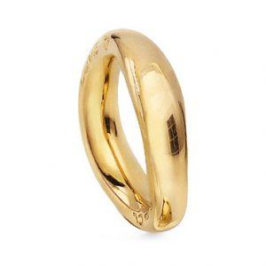 Mestergull Love Ring nr. 5 i 18 K Gult gull blank overflate LYNGGAARD Love Ring