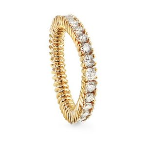 Mestergull Celebration ring i 18 kt. gult gull med diamanter totalt 1,84-2,08 ct. TwVs LYNGGAARD Celebration Ring