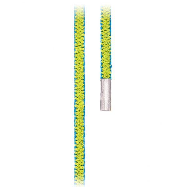 Mestergull Design snor oliven/turkis med endestykker i 18 K Hvitt gull LYNGGAARD Kjede