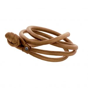 Mestergull Design Bracelet Sweet Drops i lær camel LYNGGAARD Sweet Drops Armbånd