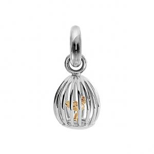 Mestergull Charm Sweet Drops fuglebur i 18 K Hvitt gull med 1 diamant 0,015 ct. TwVs LYNGGAARD Sweet Drops Charm