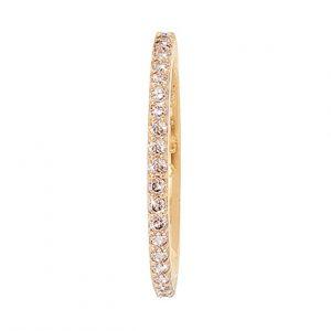 Mestergull Love Band rekkering i 18 K Gult gull med brune diamanter 0,40-0,47 ct. TwVs LYNGGAARD Love Ring